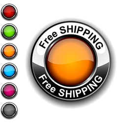 Free shipping button vector
