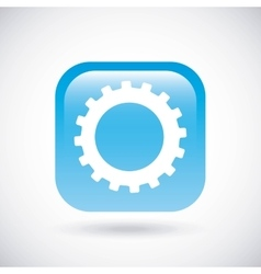 Gear icon Button design graphic vector image