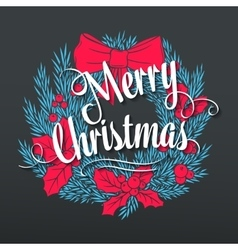 hand drawn christmas banner vector image