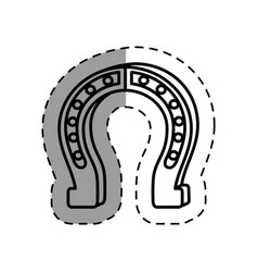 Horseshoe luck isolated icon vector