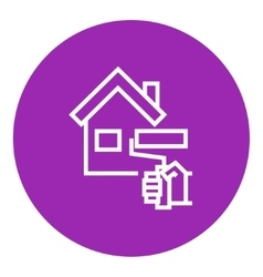 House painting line icon vector