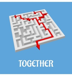 Labyrinth puzzle showing two alternative routes vector image vector image