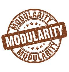 Modularity brown grunge stamp vector