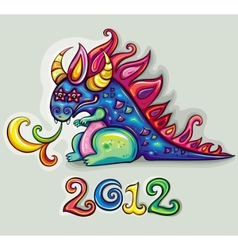new year dragon vector image