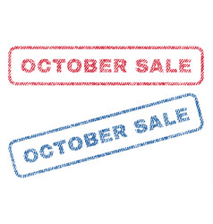 october sale textile stamps vector image vector image