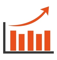 orange bar graph vector image vector image