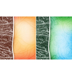 ornamented banners vector image vector image