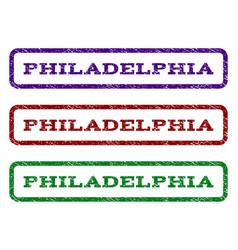 Philadelphia watermark stamp vector