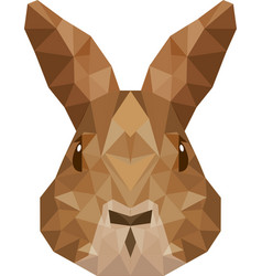 Rabbit head low poly isolated icon vector