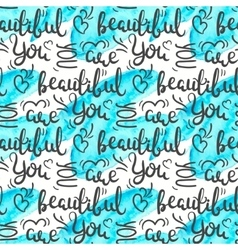 Romantic quote seamless pattern love text print vector