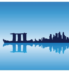 Singapore silhouette skyline vector