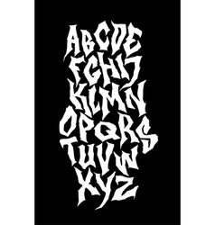 Spooky hand lettering font alphabet vector