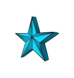 Star icon hand drawn style vector