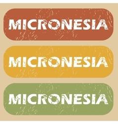 Vintage micronesia stamp set vector