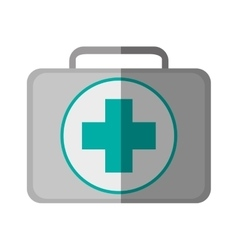 Isolated medical kit design vector