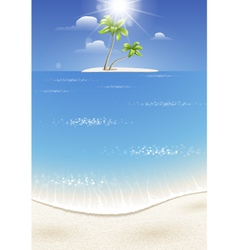 Tropical island in the sea vector