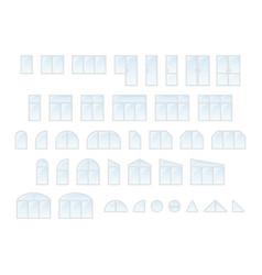 Big set of different types windows and door vector