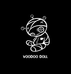 hand-made voodoo doll vector image