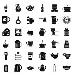 Dinnerware icons set simple style vector
