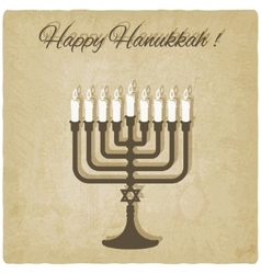 Happy Hanukkah card vector image