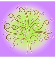 Blooming tree vector