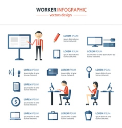 Office infographics vector