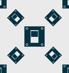 Power switch icon sign seamless pattern with vector