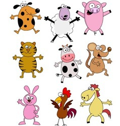 Farm animal cartoons vector