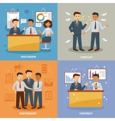 Business life set vector image
