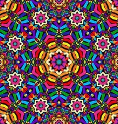 bright circular seamless kaleidoscope pattern vector image