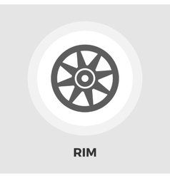 Car rim flat icon vector