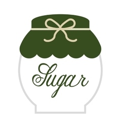 Sugar pot isolated icon design vector