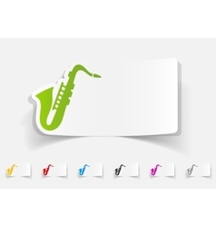 Realistic design element saxophone vector