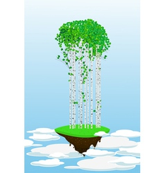 Flying forest vector image