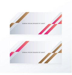 Abstract banner design pink brown vector
