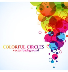 Abstract spectrum circles background vector image vector image