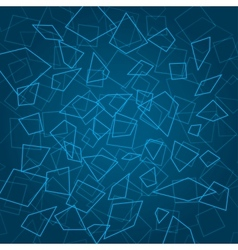 Blue abstract background with elements vector image vector image