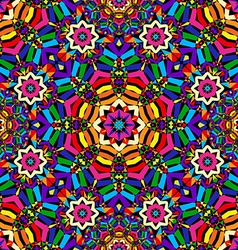bright circular seamless kaleidoscope pattern vector image