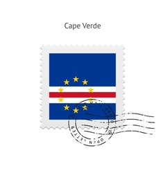 Cape verde flag postage stamp vector