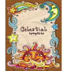 celestial framework vector image