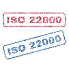Iso 22000 textile stamps vector