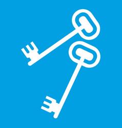 Keys icon white vector
