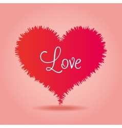 Love heart over pink background icon vector