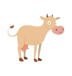 Milk cow cartoon character vector image vector image