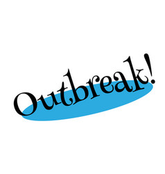 Outbreak rubber stamp vector