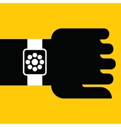Smart watch on hand vector image vector image