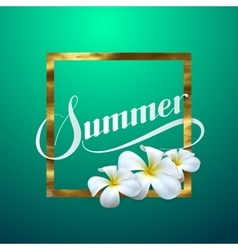 Summer retro label vector