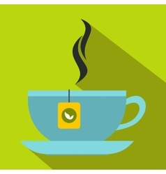 Tea cup icon flat style vector image