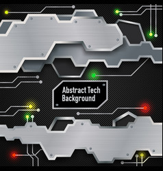 Tech electric board template vector