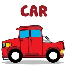 Transportation of red car collection vector